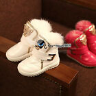 Winter Child Baby Kids Girls Boys Warm Golden Panther Leopard Snow Boots Shoes