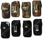 Rugged Canvas Pouch Holster Clip FOR Large Cell Phones To Fit Ballistic Case On