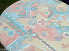 Southwest Pueblo Oval Round Vinyl Fitted Dining Tablecloth Patio Picnic Cover