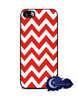 Cherry Pie Chevron Stripe, Red - Silicone Rubber Case for iPhone 5 or 5s, Cover