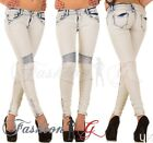 Ladies Womens Jeans Skinny Slim Fit Stretch Denim Pants Blue Size 6 8 10 12 14