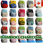 Kyпить Washable Baby Pocket Nappy Cloth Reusable Diaper BAMBOO CHARCOAL Cover Wrap на еВаy.соm