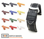 BOB Alligator Style Deployment Strap/Band for Panerai, 24 mm, 12 colors, new!