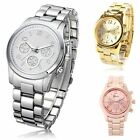 New Women Girl Unisex Exquisite Charm Geneva Stainless Steel Quartz Wrist Watch
