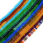 3x6mm Faceted Quartz Rondelle Spacer Beads Pick Color