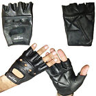 GENUINE LEATHER FINGERLESS WEIGHT LIFTING SPORTS GLOVES, GYM, DRIVING, CYCLING