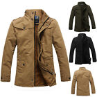 FASHION Mens Winter Military Jacket Parka Warm Trench FLEECE Coat Overcoat THICK