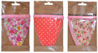 Fabric Bunting Flags Floral Flowers 2m - shabby chic