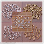 Wholesale Silver Gold Plated Screw Eye Pins Jewelry Findings 8mm 10mm 12mm 15mm