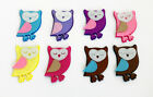 OWL SHAPED FELT EMBELLISHMENTS for making hair clips craft scrapbooking sewing