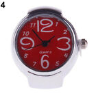Women Stirring Novel Steel Round Dial Stylish Elastic Quartz Finger Ring Watch