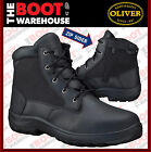 Oliver 34660 Work Boot. Steel Toe Safety. Black Full Grain Leather. ZIP-SIDER