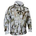 True Timber MC2 Camouflage Snow High Pile Fleece Hoodie White PA11