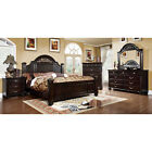 Syracuse Transitional Style Dark Walnut Finish 6 Piece Bedroom Set