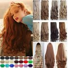 100% Real Natural Quality Clip In Hair Extensions 3/4 Full Head Blonde Brown lc5