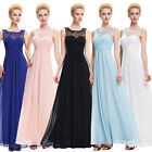 ST Long Maxi Sleeveless Chiffon Ball Gown Wedding Evening Prom Party Grad Dress