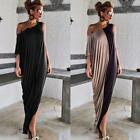 Sexy Womens Casual Off Shoulder A-Line Irregular Evening Party Long Maxi Dress