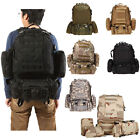 50L Molle Army Assault Tactical Outdoor Military Rucksacks Backpack Camping Bag