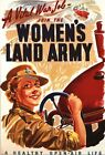 Vintage World War 2 Womens Land Army Recruitment Poster A3/A2/A1 Print