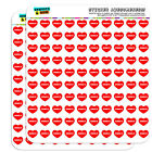 """1/2"""" (0.5"""") Scrapbooking Crafting Stickers I Love Heart City State L-N"""