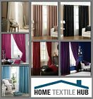 Catherine Lansfield Luxury Eyelet Faux Silk Curtains Various Colours / Sizes