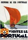 Vintage Portugal Railways Tourism Poster A3 Print