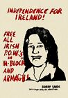 Vintage 1980's Bobby Sands IRA Northern Ireland Political Poster A3 Print