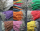 Leather Braid Rope Hemp Cord Lobster Clasp new chic 10/50pcs  jewelry bracelet