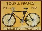 Vintage 1936 Tour de France Cycling Poster A3 Print