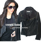 jp10 Celebrity Fashion Trendy Biker Style Faux Leather Jacket Vest Worn 2 Styles