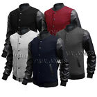 Fashion Men's Casual Jacket Varsity Letterman Baseball Outwear Sweatshirts Coats