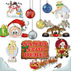Fab Window Clings Picture Packs + Snowflakes PVC Decorations Static Stickers