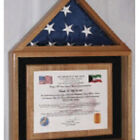 Certificate And American Flag Display Case Hand Made By V...
