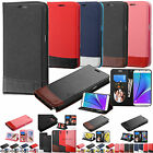 Hybrid Leather Flip Wallet Case Wave Cover w/ Stand for Various Phones