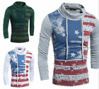 New Fashion Men's Luxury Long Sleeve Slim Fit Casual T-Shirt Cotton Basic Tee