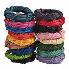 1,1.5,2,2.5,3MM String Lace Thong 100% Real Round Leather Cord Jewel Findings