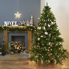 6FT OR 7FT LUXURY PRE LIT ARTIFICIAL WARM WHITE LED WINDSOR FIR CHRISTMAS TREE