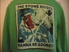 *NEW TAGGED* AMPLIFIED VINTAGE STONE ROSES I WANNA BE ADORED MENS GREEN HOODIE M