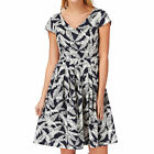 People Tree Fiona Flared  Womens  Dress - Navy
