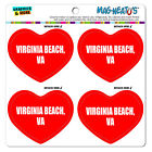 MAG-NEATO'S™ Car Refrigerator Vinyl Magnet Set I Love Heart City State V-Y