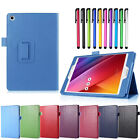 Wake/Sleep Smart Stand Folio Wallet Leather Case Cover For ASUS Tablet + Stylus