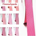 """by 5 Yards Grosgrain Ribbon 3"""" /75mm. for Wedding all Pink s to Choose"""