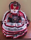 VARIOUS HANDMADE CROCHET CFL [COLLEGE FOOTBALL] BED PILLOW BARBIE DOLL, 10 yrs +
