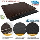 "30"" x 18"" Thick Indoor Cushion Kitchen Rug Anti-Fatigue Floor Mat Brown or Black"