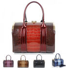 Ladies Women's Fashion Quality Large Tote Bags  Designer Faux Leather Handbags