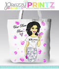 PERSONALISED SHOPPING BAG LIKE JUTE TOTE FASHION BIRTHDAY CHRISTMAS GIFT PRINTED