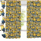 """Despicable Me Army of Minions Pencil Pleat Curtains 54"""" or 72"""" Drop Bedding"""