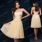 Elegant MINI Short Bridesmaid Formal Cocktail Party Prom Dress Evening Ball Gown