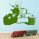 ARMY TANK WALL ART CHILDRENS ROOM BOYS ROOM ARMY THEMED STICKER DECAL