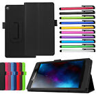 Ultra Slim Stand Folio Wallet Leather Case Cover For Lenovo Tablet + Stylus